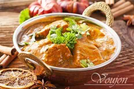 Voujon - Two Courses of Indian Cuisine For Two - Save 58%