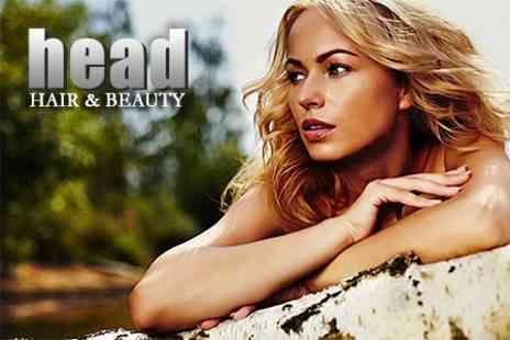 Head Hair and Beauty - T Section Highlights With Cut and Blow Dry Plus Aveda Hair Spa Treatment - Save 56%