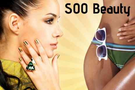 SOO Beauty - One Treatments From Shellac Manicure, Pedicure or Full Body Spray Tan - Save 47%