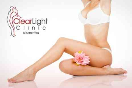 ClearLight Clinic - Brazilian or Hollywood Waxing - Save 64%