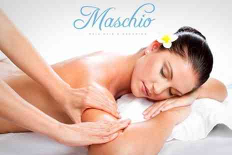 Maschio - Massage For Back, Neck and Shoulders Plus Indian Head Massage For One - Save 72%