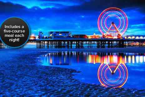 Brownes International Hotel - Two night Blackpool break for two, including breakfast and a five-course meal on both nights - Save 59%