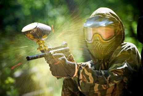 Vivid Paintball - Full day session of paintballing for up to 10 with equipment & 100 paintballs each - Save 94%