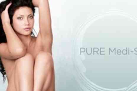 PURE MEDI SPA - Six Sessions of IPL Laser Hair Removal on One Large and One Small Area - Save 95%