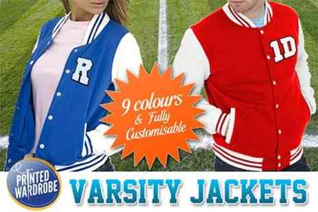 Printed Wardrobe - Design Your Own American Varsity Jacket - Save 50%
