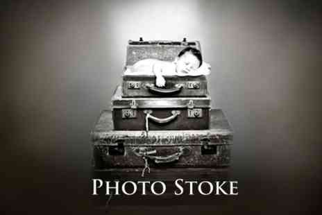 Photo Stoke - Baby Photoshoot With Two Prints and Digital Upload - Save 92%