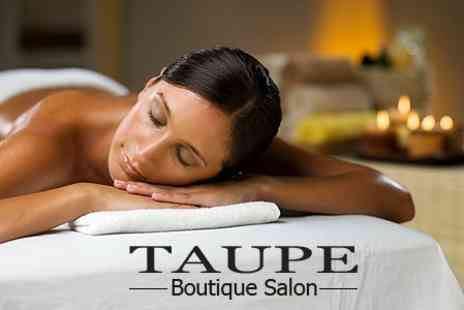 Taupe Boutique Salon - Pamper Package Two Treatments Such as Full Body Massage and Manicure - Save 71%