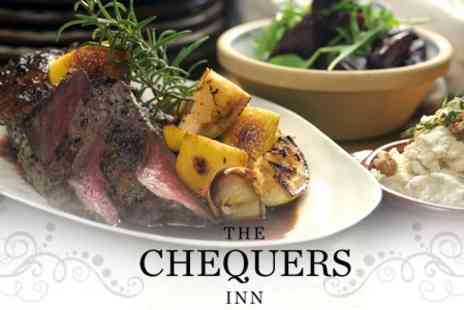 The Chequers Inn - Carvery Meal With Dessert and Wine For Two - Save 36%