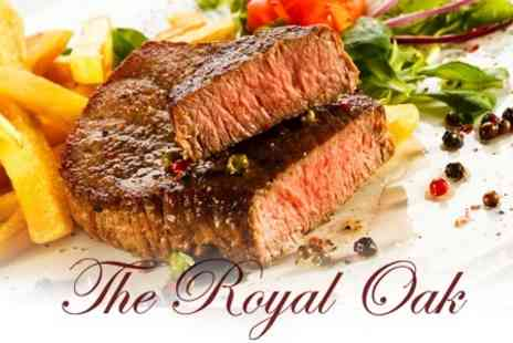 The Royal Oak - Two Course Pub Meal With Wine For Two - Save 55%
