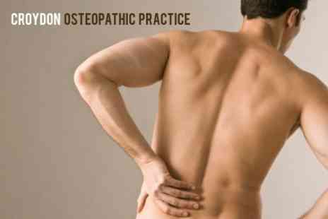 Croydon Osteopathic Practice - 90 Minute Treatment One Hour Osteopathic Massage and Spinal Assessment - Save 64%