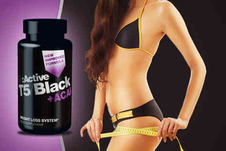 Desirable Body - 1 Month supply of T5 Black Plus Acai Fat Burner supplements - Save 50%