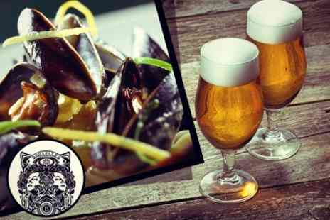 Cafe Bruxelles - Two Course Belgian Meal Mussels, Waffles and Speciality Beer or Wine For Two - Save 23%