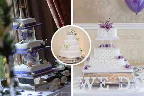 Wedding Cakes Leeds - £237 for a beautiful bespoke four-tiered wedding cake, worth £475 - Save 50%