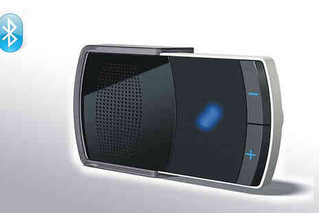 Gadget Geeks - Talk safely in your car with this Solar Powered Bluetooth Car Kit - Save 67%