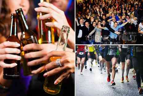1 Big Night Out - Entry to a London Marathon pub crawl on April 19th or 20th starting - Save 60%