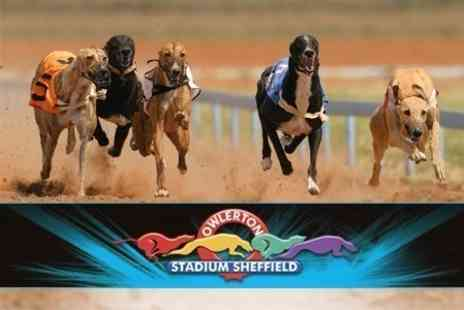 Owlerton Greyhound Stadium - Entry For Four With Racecard, Two Drinks, Bets and Slots Voucher - Save 80%