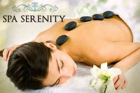 Serenity Spa - One Hour Hot Stone Massage or Two 30 Minute Treatments - Save 73%