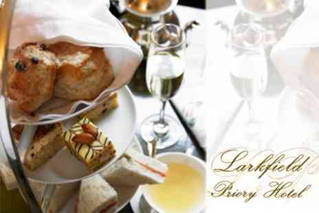 Larkfield Priory Hotel - Sparkling Afternoon Tea For Two for £12 - Save 60%