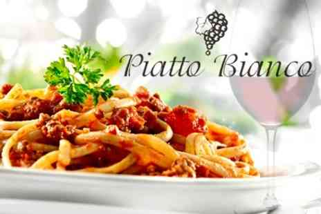Piatto Bianco - Italian Main Course With Wine For Two  - Save 58%