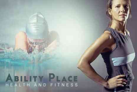 Ability Place Health and Fitness - Ten Gym Passes With Pool and Health Suite Access - Save 50%