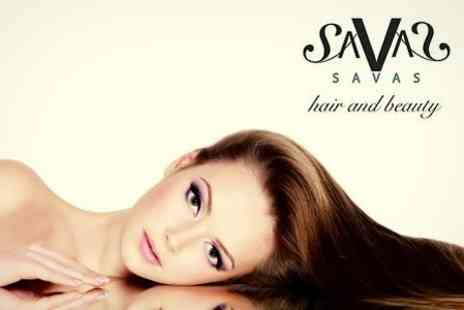 Savas Hair & Beauty - Brazilian Blow Dry Plus Half Head Highlights - Save 66%