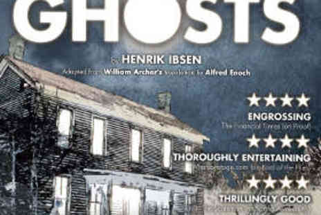 Greenwich Theatre - Two Tickets to Ghosts - Save 52%