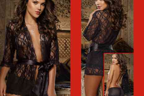 BeFlame - Stunning Lace Gowns and Matching Underwear Sets - Save 71%