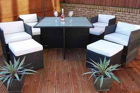 London Rattan - Luxury nine piece London Rattan Chelsea dining set  - Save 43%