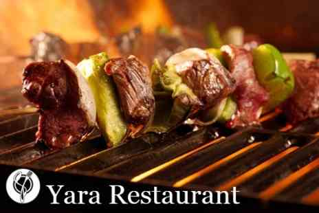 Yara Restaurant - Lebanese Three Course Meal - Save 66%