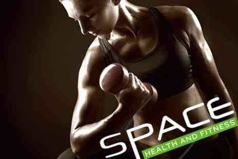 Space Health and Fitness - Six Week Gym Pass, Personal Training Session, and Six Boot Camp Sessions - Save 93%