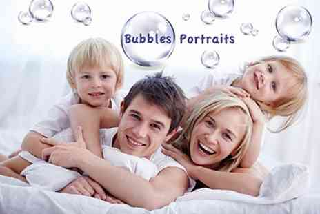 Bubbles Portraits - Family Photoshoot With Prints and Cupcakes - Save 81%