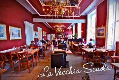 La Vecchia Scuola - Three Course Italian Meal With Drinks For Two - Save 53%