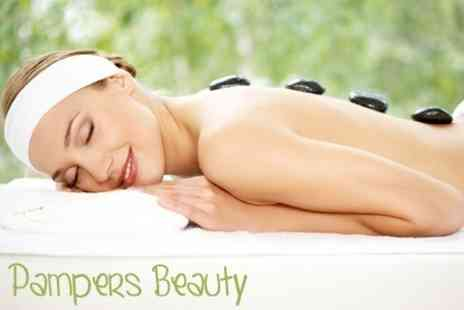 Pampers Beauty - One Hour Hot Stone Full Body Massage - Save 40%