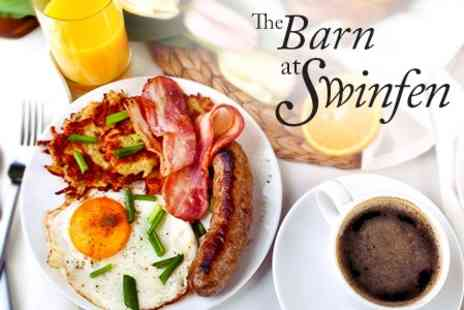 The Barn - Breakfast With Drink For Two - Save 47%