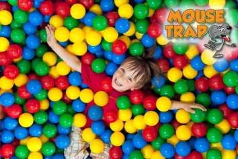 Mouse Trap Soft Play - Entrance For Two Children With Juice Each - Save 50%