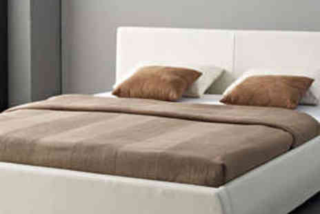 Aston Furniture - Faux Leather Double Bed Frame - Save 65%