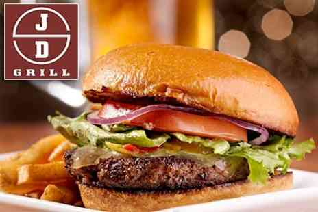 JDs Grill - Burger and Side Plus Budweiser For Two People - Save 61%