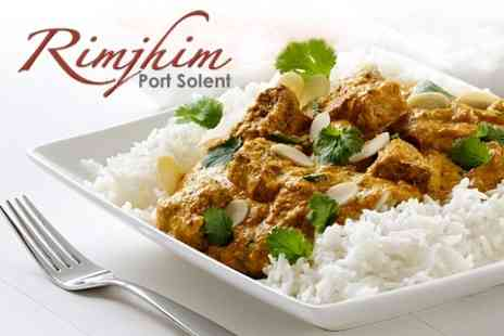 Rimjhim - Two Course Indian Meal For Two With Rice - Save 56%