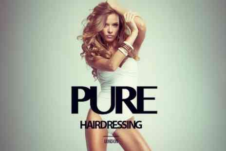 Pure Hairdressing - Half Head Highlights or Full Head Colour With Conditioning Treatment - Save 60%