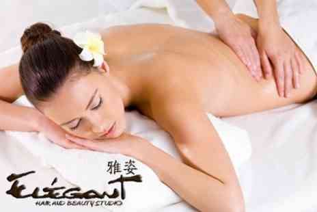 Elegant Hair and Beauty Studio - 60 Minute Aromatherapy Massage - Save 50%
