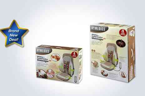 Supa Value - Homedics Shiatsu and Compression massager with heat control - Save 50%