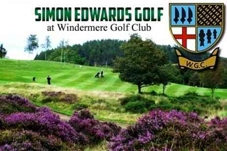 Windermere Golf Club - Long Game Golf Coaching Day With 18 Hole Round - Save 50%