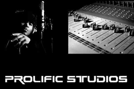 Prolific Productions - Recording Studio Session For Up to Four With CD and Album Cover Photoshoot - Save 76%