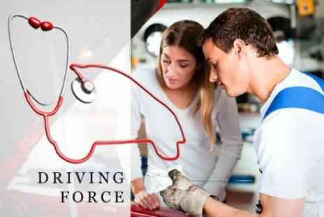Driving Force - MOT With Oil and Filter Change - Save 78%