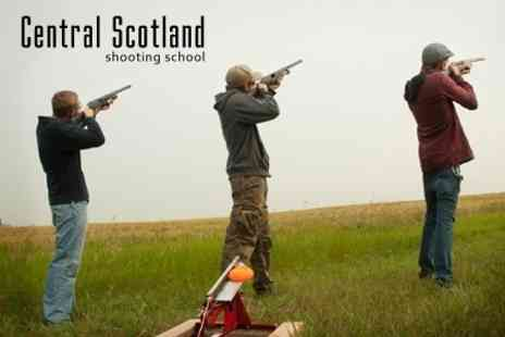 Central Scotland Shooting School - Clay Pigeon Shooting With Clays - Save 60%