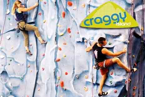 Craggy Island - Climbing Taster Lesson For Two With Hot Drink Each - Save 65%