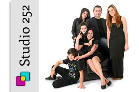 Studio 252 - Photoshoot Family Portrait Session With Framed Print - Save 91%