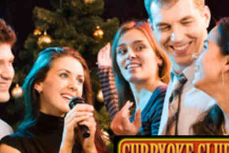 Curry Karaoke club - 6 Course Indian Banquet and Christmas Karaoke Party - Save 59%