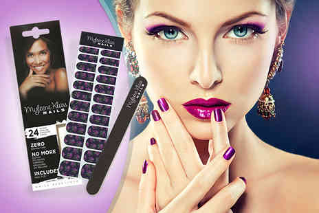 Bio Energiser - Pack of Myleene Klass nail wraps in 5 different designs & file - Save 83%