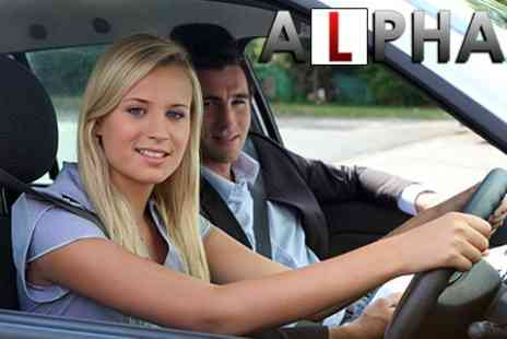 Alpha - Three Driving Lessons - Save 24%